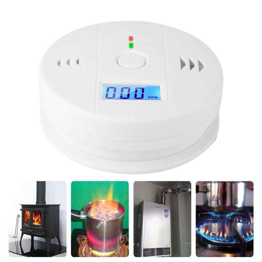 Сигнализатор угарного газа LCD CO Smoke интеллектуальный датчик отравления Предупреждение ющий детектор коолмоноксида мелдер сигнализация детектор