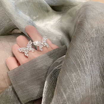 Resizable Cute Butterfly Ring with Big Bling Zircon Stone Rings Products under $30 2ced06a52b7c24e002d45d: Resizable
