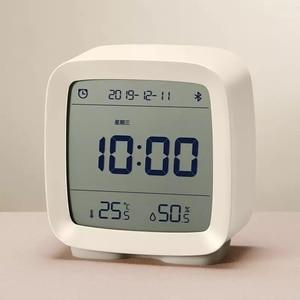 Image 3 - Còn Hàng Youpin Cleargrass Bluetooth Đồng Hồ Báo Thức Thông Minh Điều Khiển Nhiệt Độ Độ Ẩm Màn Hình Hiển Thị Màn Hình LCD Màn Hình Có Thể Điều Chỉnh Nightlight