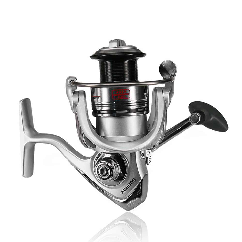 Fishing Reel Upgraded <font><b>AD2000</b></font> Series 12+1 BB Metal Head No Gap Spinning Wheel Fishing Reel Sea Rod Wheel Fishing Lure Accessories image
