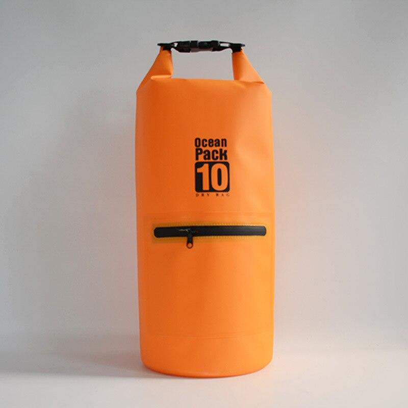 10л оранжевое на молнии водонепроницаемая сумка оптовая продажа с фабрики плавательный водонепроницаемый мешок спортивный