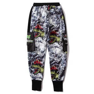 Image 5 - 11 BYBBS DARK Hip Hop Big Pocckets Graffiti Men Harem Cargo Pants 2019 Harajuku Sweatpants Joggers Trouser Streetwear Oversized