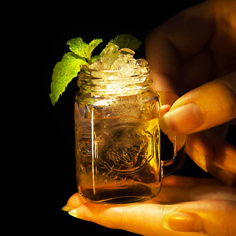 5pcs/lot Mini Mason jar Crystal Vodka Whiskey Cocktail Cup Mug Shot Glass Whiskey Drinkware For Home Bar Night Club Supplies