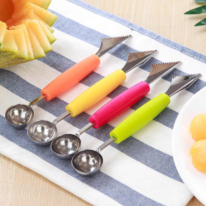 8 tipi di Frutta Regalo Libero per 4 di Colore Dual-testa di Frutta Palla Intagliare Coltello Waterlemon Scoop Melone da Cantiere Digger Pezzi di Cucina cucchiaio Dropshipping