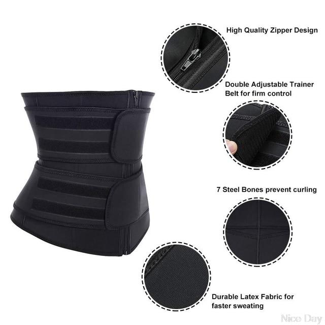 Steel Boned Waist Corset Trainer Sauna Sweat Sport Girdle Cintas Modeladora Lumbar Shaper Workout Trimmer Belt A17 20 Dropship 4