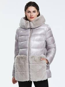 Astrid 2019 Зима новое поступление пуховик женский воротник натуральная меховая верхняя одежда высокое качество короткий стиль светлый цвет зи...