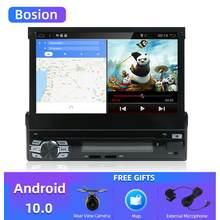 Android 10,0 Универсальный 1 Din автомобильный DVD плеер HD автомобильное радио GPS навигация автомобильный стерео с Bluetooth + Wifi + USB + FM + задняя камера
