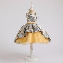 Детское летнее платье-пачка без рукавов, из хлопка и полиэстера