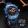 NAVIFORCE Top marka męskie zegarki moda zegarek kwarcowy mężczyźni wojskowy sport cyfrowy chronograf Wrist Watch zegar Relogio Masculino