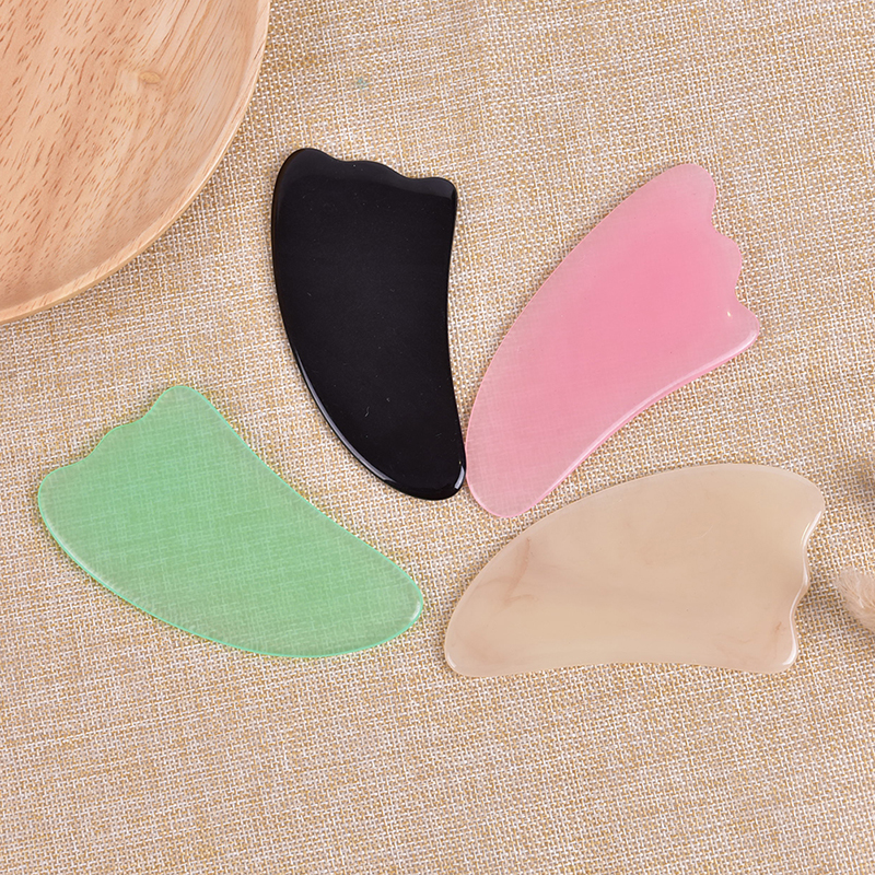 Natural Resin GuaSha Massage Scraping For Face Neck Body Beeswax Guasha Scraper Massager Scrape Therapy Acupoint Acupressure
