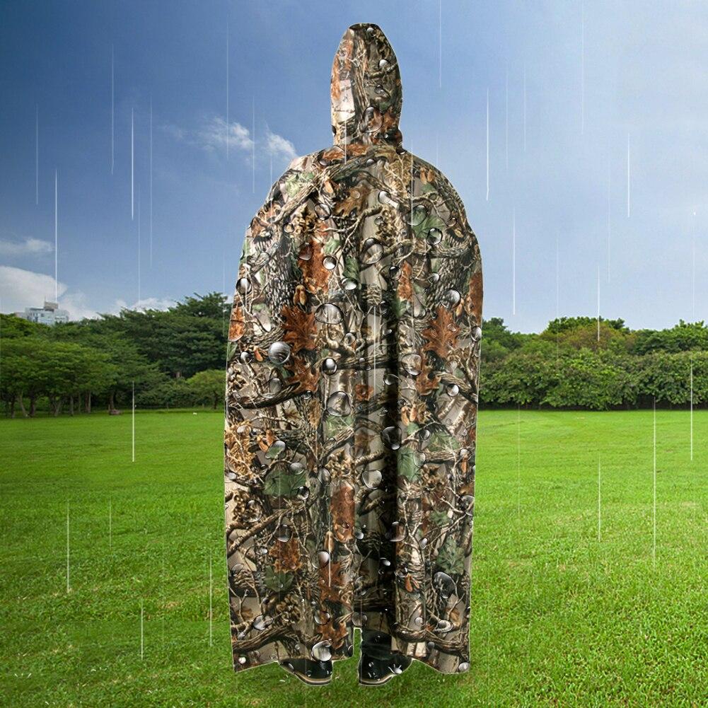 3 In 1 Raincoat Backpack Adult Women Men Portable Outdoor Travel Rainwear Waterproof Camping Hooded Ponchos Plastic Rain Cover in Raincoats from Home Garden
