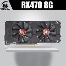 VEINEDA 100% Originalกราฟิกการ์ดAMD Radeon Rx 470 8GB 256Bit GDDR5 PCI E 3.0 HDMI DPสำหรับNVIDIA Geforceเกม