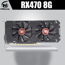 VEINEDA 100% Original Grafikkarte AMD Radeon rx 470 8GB 256Bit GDDR5 PCI E 3,0 HDMI DP video karte für nVIDIA Geforce Spiele
