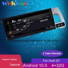 Wekeao 10.25 Android 10.0 Auto Radio auto GPS Navigation For Audi Q7 Car Dvd Multimedia Player 2007 2015 Bluetooth WIFI 4G