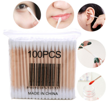 Taote teemo 100pcs Disposable Double Heads Makeup Cotton swabs Eyelash Extension Glue Removing tools Cleaning care cotton swabs