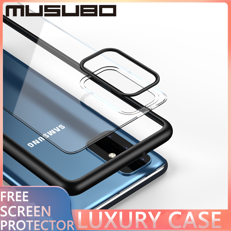 Musubo Luxury Fashion Case Shockproof For Samsung Galaxy S20 Plus 5G S20 Ultra S10E Plus Ultra NOTE Thin Transparent Back case