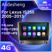 Para lexus is250 is300 is200 is220 is350 2005-2012 android 10.0 dsp navegação rádio do carro reprodutor multimídia gps ips 2 din sem dvd