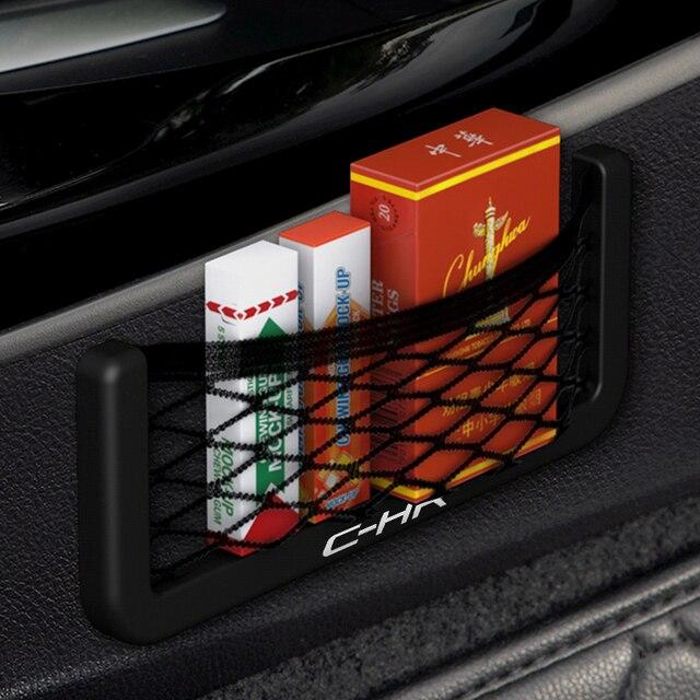 1 pçs saco de armazenamento organizador do carro pasta automática bolso líquido titular telefone para toyota C-HR chr c hr acessórios do carro universal