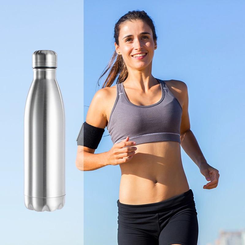 Термос бутылка для воды Нержавеющая сталь Спортивная бутылка для воды изолированный термос одностенных горячей и холодной воды бутылки колы 350/500/750/1000 мл