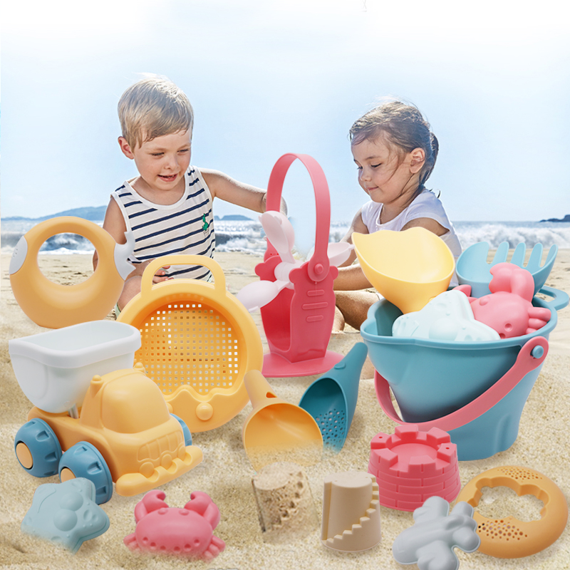 Baby Beach Toys Kids Summer  Beach Game Toys Children Sandbox Set Kit Toys For Beach Play Sand Bathroom Water Game Play Cart