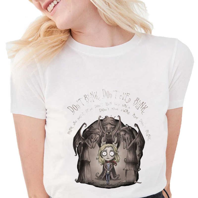 Estate Del Fumetto di Modo Stampato Doctor Who T Camicette Delle Donne in Morbido Cotone Casual Bianco Magliette E Camicette Magliette S1302