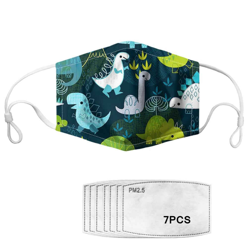 Cute Dinosaur Pattern Kids Children Masks Fashion Breathable Anti Dustproof Thicken Face Mouth Mask Clothing Drop Shipp