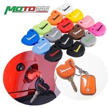 1pc estilo de silicone borracha chave caso capa para vespa enrico piaggio gts300 lx150 fly 125 3vte gts 200 250 scooter chave decoração