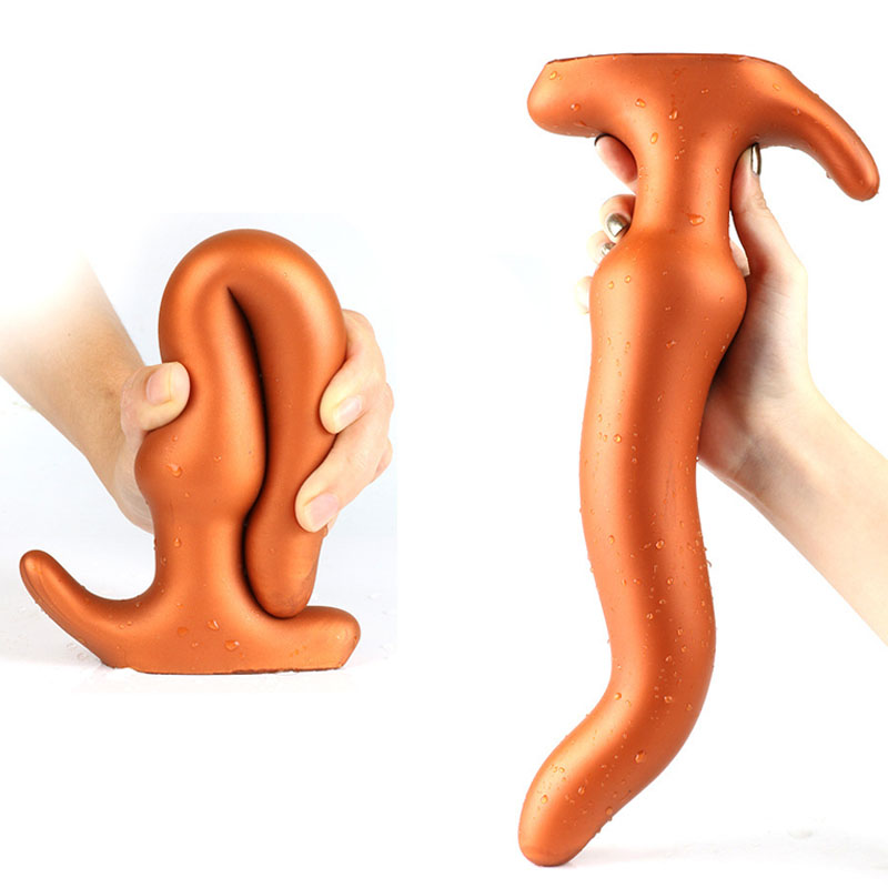 Super Long Silicone Anus Dilator Big Dildo Butt Plug Prostate Massager Anal Plug Expander <font><b>Sex</b></font> <font><b>Toys</b></font> <font><b>For</b></font> Adults Women Men <font><b>Gays</b></font> <font><b>Sex</b></font> image