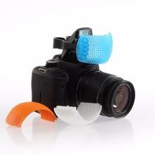 3 Color Pop-Up Flash Diffuser Cover For Canon Nikon Pentax Kodak DSLR SLR Camera kaliou 30cm universal round portable speedlight softbox flash diffuser on top soft box for canon nikon sony camera dslr