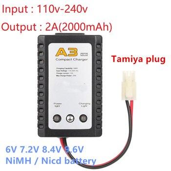Professionele editie A3 Lader 6v 7.2v 8.4v 9.6v Batterij Oplader voor NiCd NiMH batterij met Tamiya plug Kep-2p Plug Voor RC speelgoed
