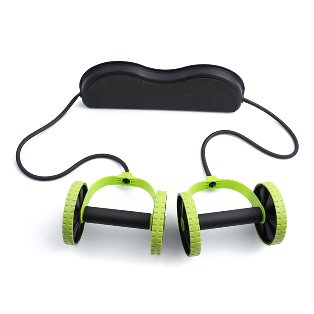 AB Wheels Roller Stretch Elastic Abdominal Resistance Pull Rope Tool AB roller for Men Women Abdominal Muscle Trainer Exercise image