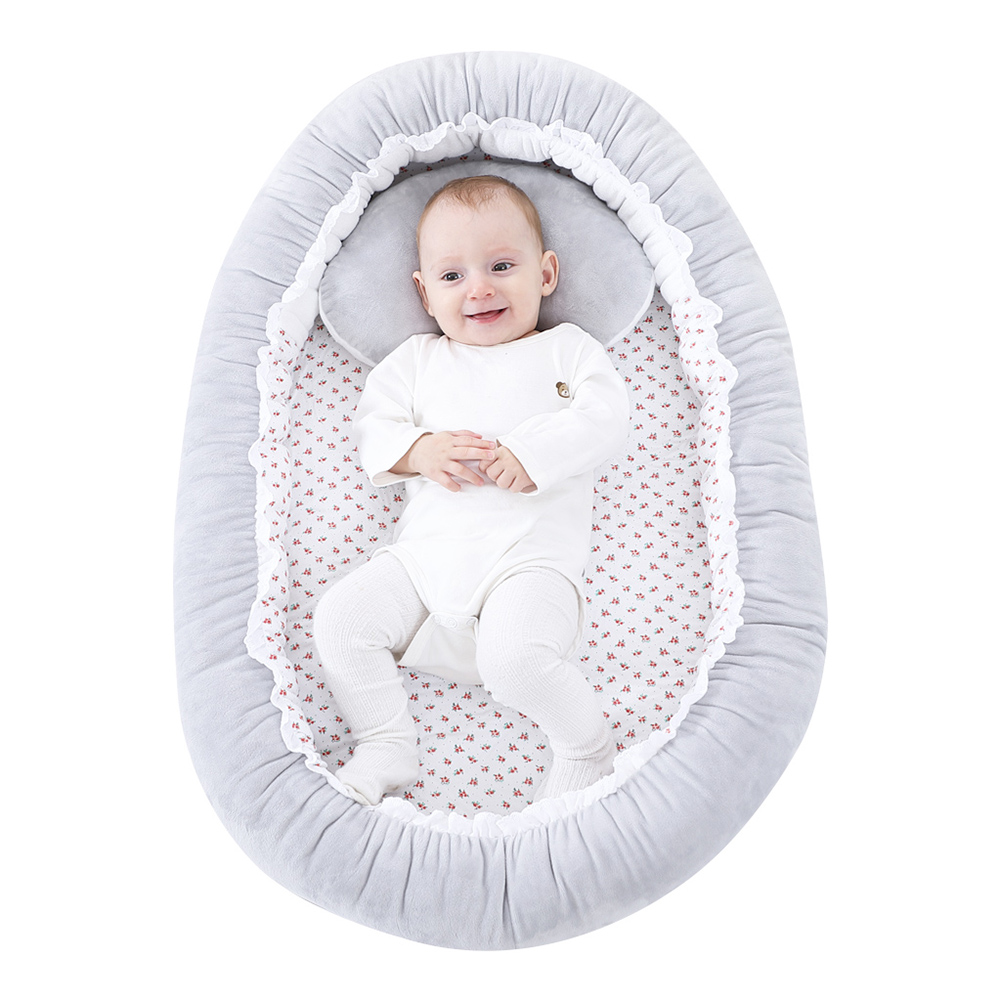 Baby Crib Folding Travel Nursery Infant Toddler Cradle Sleeping Bed Baby Bionic Bed Crystal Super Soft Portable Baby Bed