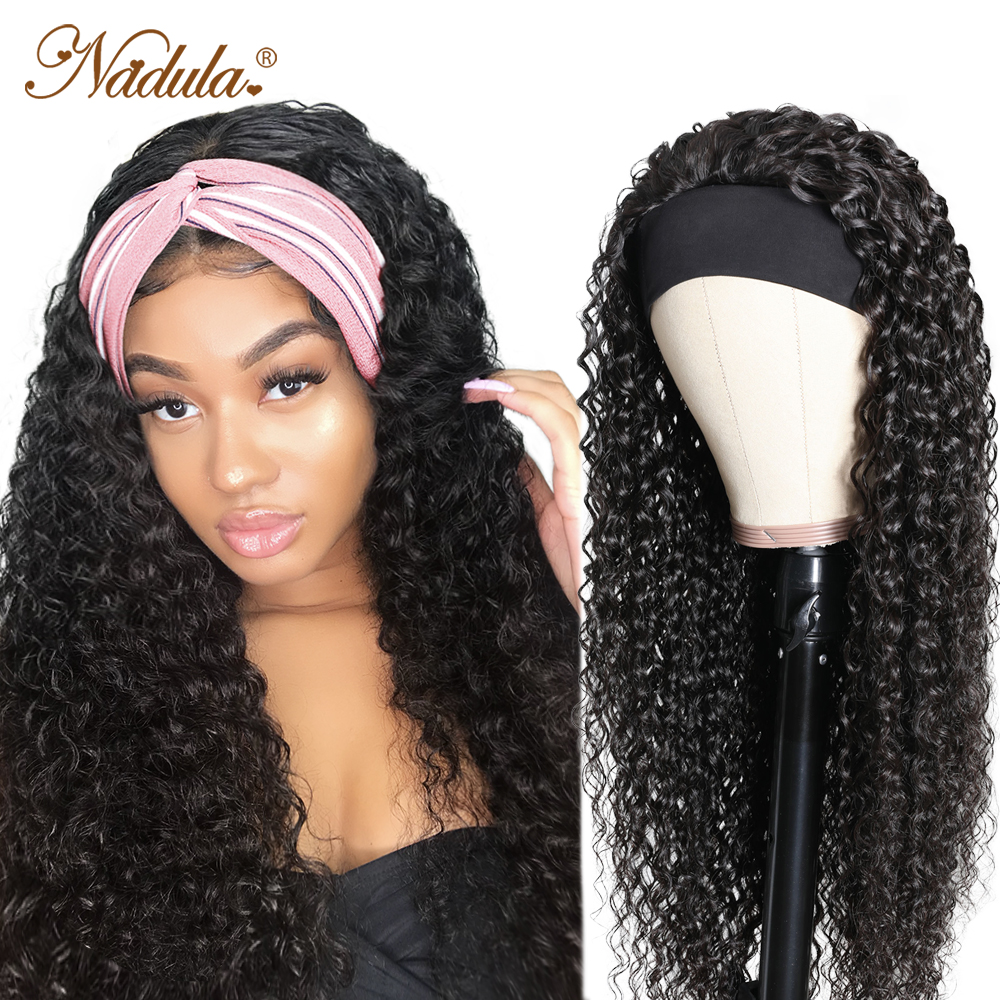Perfect Fit Culry Hair Headband Wigs for Black Women 150% Density Super Natural Half Wig Curly  Wig Nadula Product 1