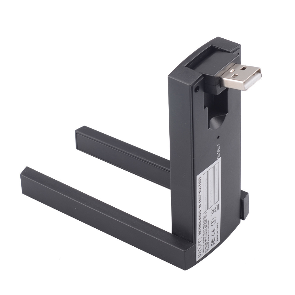 Wireless Wifi Repeater PIX-LINK USB Range Extender Dual Antenna 300Mbps 802.11b/g/n Wireless Wi-Fi Signal Booster Amplifier 4
