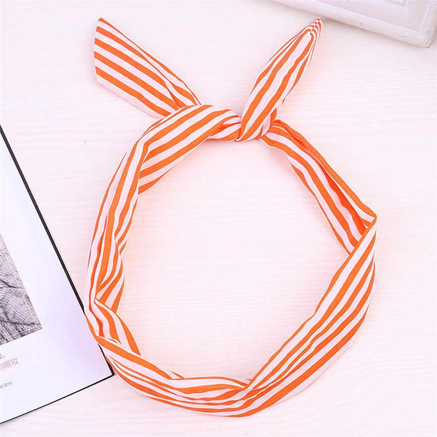 Di modo Wired Fascia Polka Dot Tartan Rockabilly Filo Sciarpa Fascia Dei Capelli per la ragazza Accessori Per Capelli diademas Para el pelo Mujer 30