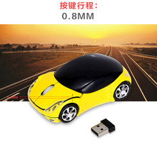 New USB 2.4GH Souris Optique Voiture Style Wireless Car USB2.0 Optical Mouse Mice For