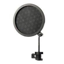 PS-2 двухслойный Студийный микрофон Микрофон Ветер экран ПОП-фильтр/шарнирное крепление/Маска шид для говорящей записи