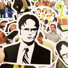 50pcs/set TV Show The Office Cartoon Stickers Funny Vinly Decal For Luggage Car Book Laptop Skateboard Bicycle Toy Stickers