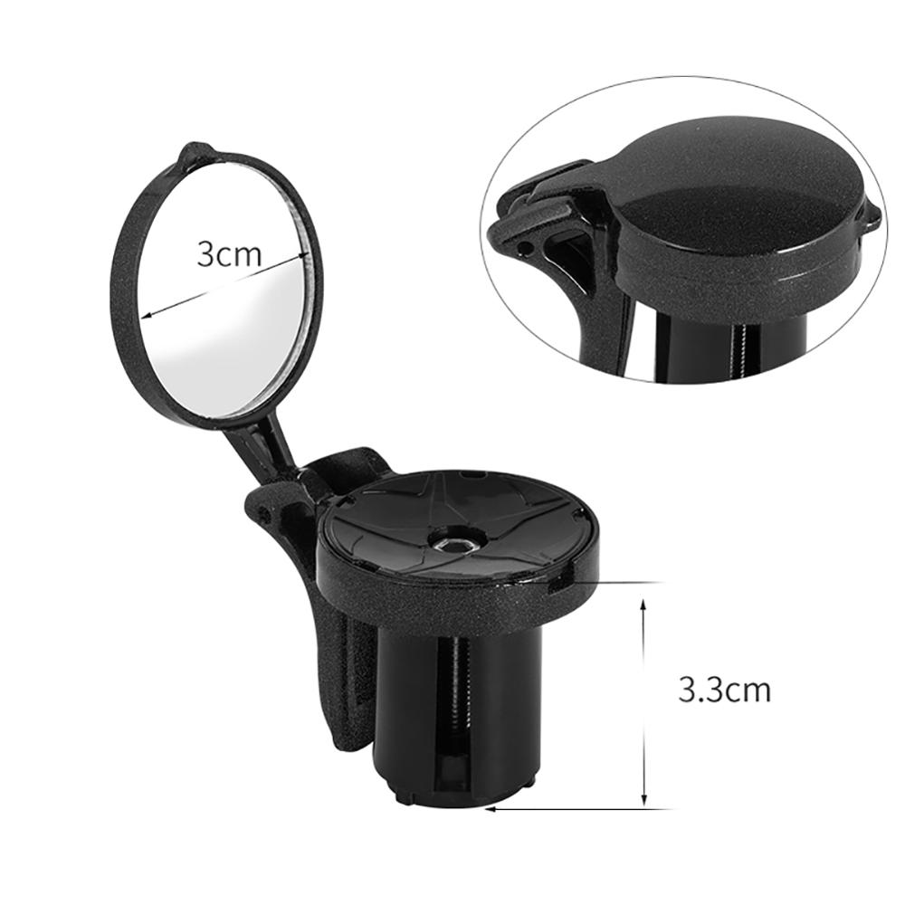 1 PC Bicycle Mirror Rear Road Bike Unbreakable Rotatable Rear View Safety Side Handlebar Mirror Outdoor Cycling Accessories