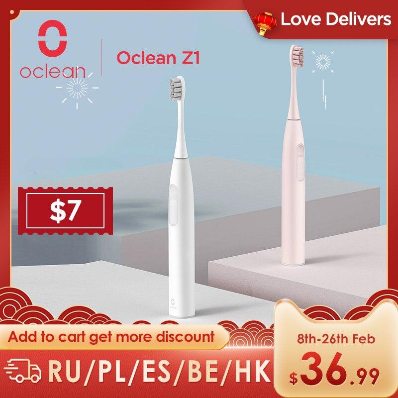 Oclean – brosse à dents électrique sonique Z1 avec 3 Modes de brossage, charge rapide USB, intelligente, pour le nettoyage des dents buccales des adultes