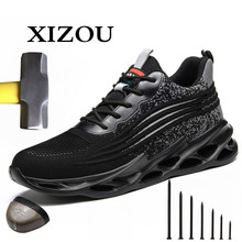 Boots Work-Shoes Outdoor New-Design Puncture-Proof Deodorant-Size Non-Slip Casual XIZOU