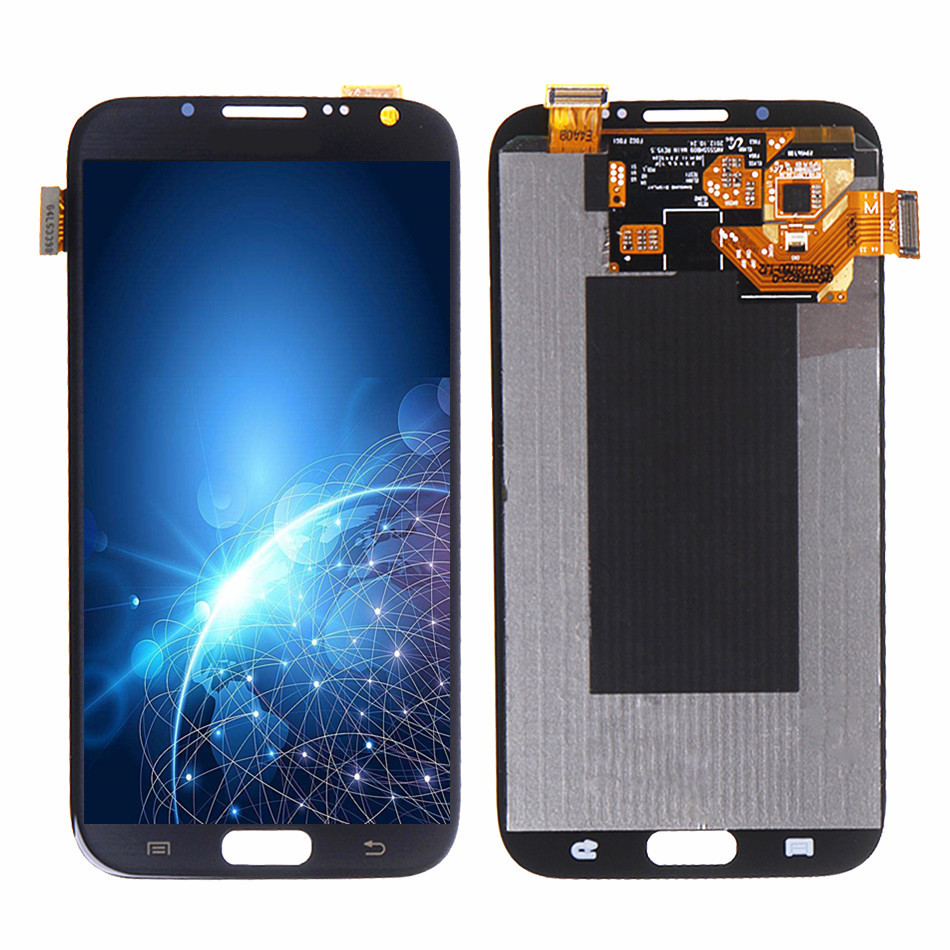 100% Tested High Quality LCD For Samsung GALAXY Note 2 N7100 N7105 LCD Without Frame Display and Touch Screen Digitizer Assembly image
