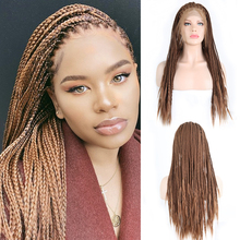 Парик из коричневых волос Charisma, Плетеный парик с косами из синтетических волос для женщин, парик из длинных волос
