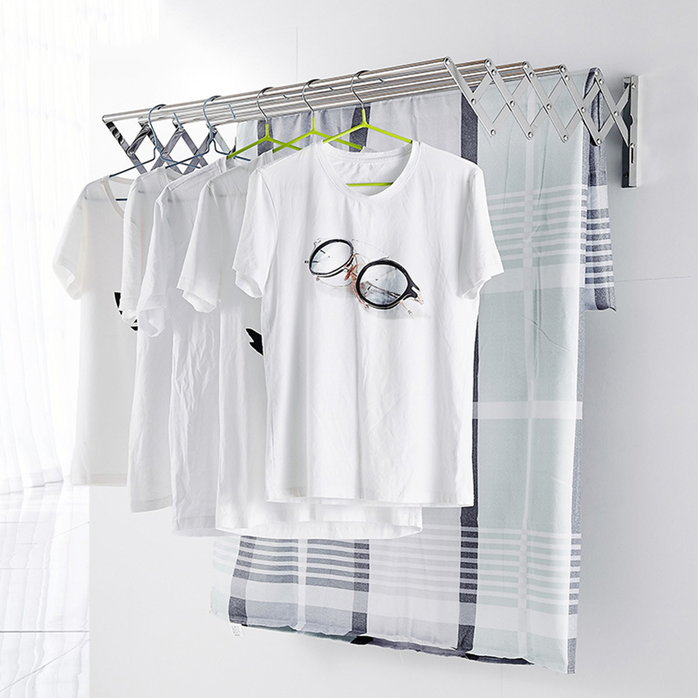 Clothes Hanger Space Saver Clothes Rack Stainless Steel Wall Mounted Laundry Folding Clothes Drying Rack Hangers For Clothes
