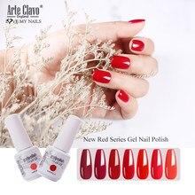Arte Clavo 179 цветов УФ гель лак для ногтей светодиодный лак для дизайна ногтей лак отмачиваемый 15 мл Новое поступление гель лак для ногтей гель л...