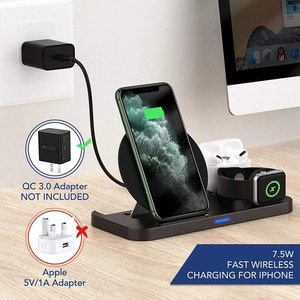 Image 3 - DCAE Fast Charging Dock Station 10W 3 in 1 Qi Wireless Charger Stand for iPhone 11 XS X 8 AirPods Pro Apple Watch iWatch 5/4/3/2