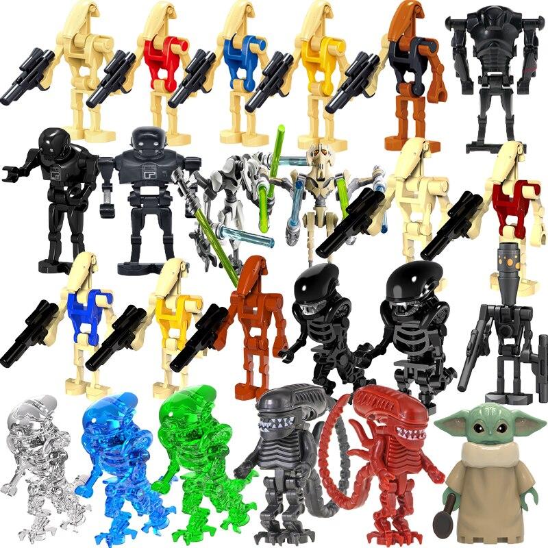 Star Spcae Wars bébé maître Force réveille Robot mandalorien Starwars Mini blocs de construction briques éducation figurines d'action