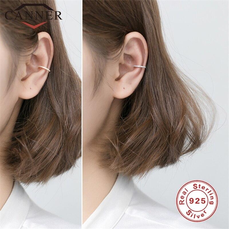 925 Sterling Silver Clip Earrings Charming CZ Zircon Circle Earrings For Women Ear Clips Without Pierced Earring Fashion Jewelry