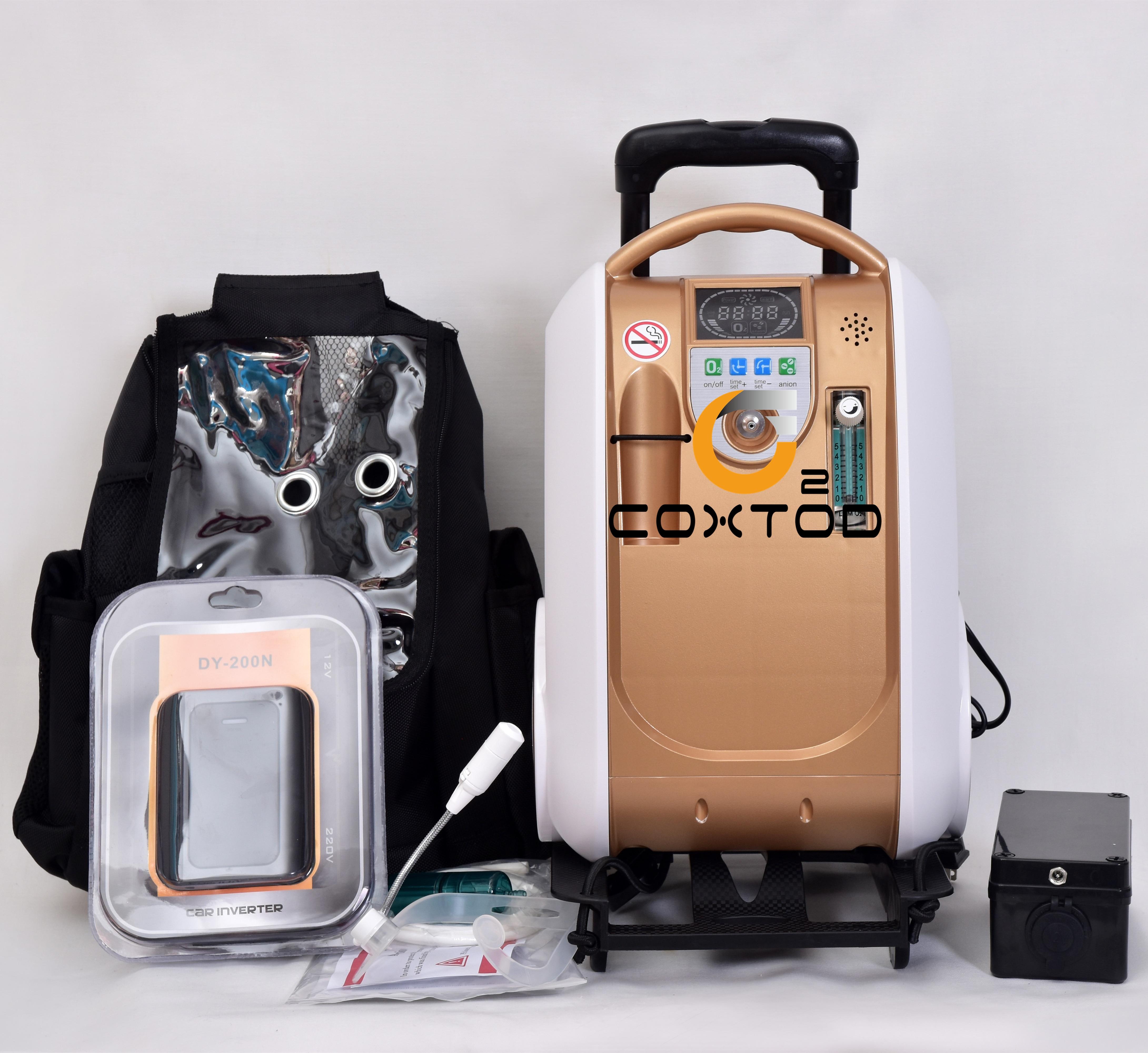 Xgreeo portátil oxigênio gerador doméstico/carro/bateria concentrador de oxigênio para 24 horas de fluxo contínuo|Máquina de oxigênio|   -