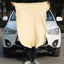 Saugfähig Schnell Trockenen Auto Waschen Handtuch Auto Reinigung Liefert Werkzeuge Zubehör Natürliche Gämsen Leder Sauber Tuch Handtücher 45x75cm cheap CN (Herkunft) Suede Leather